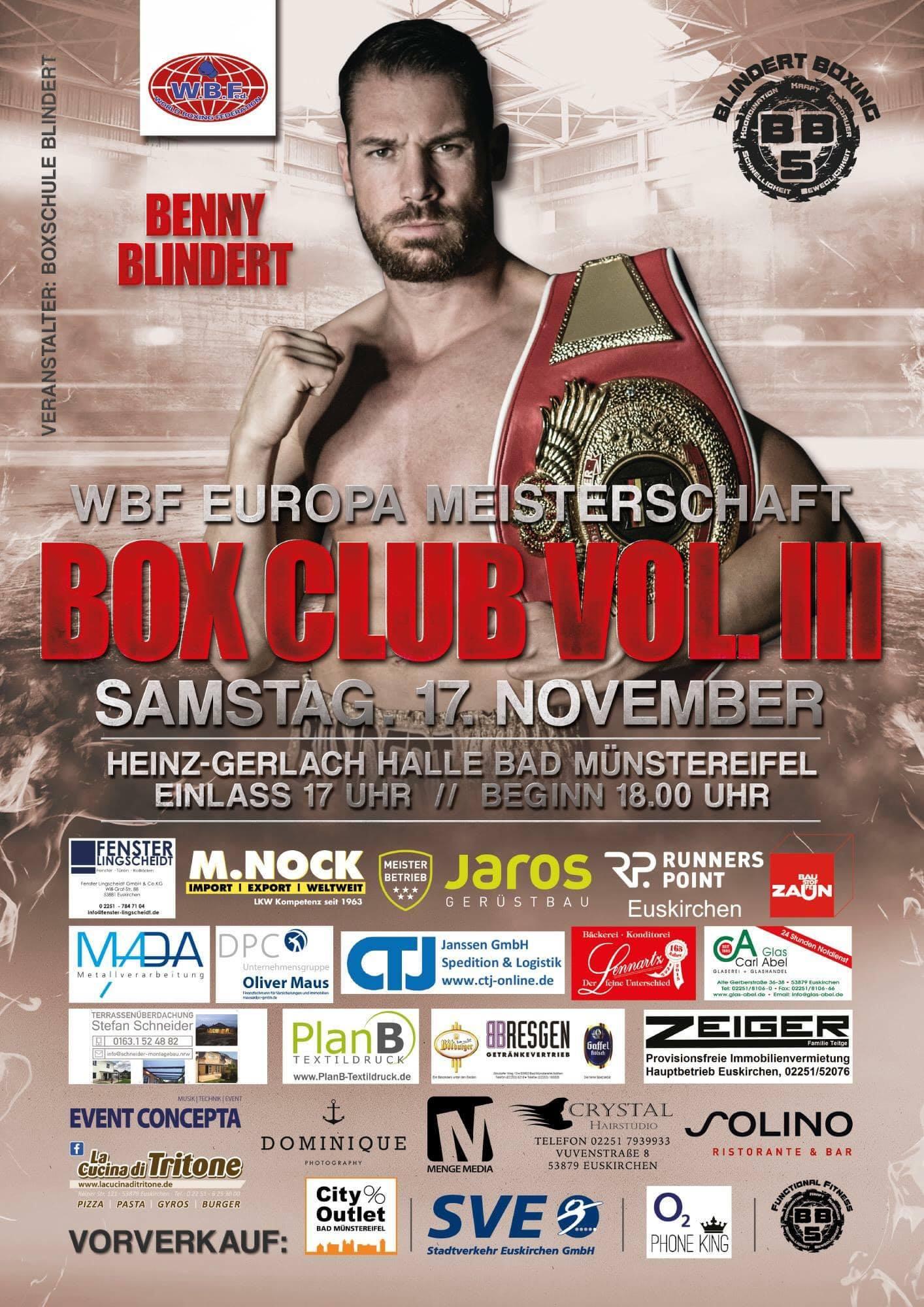 BOX CLUB VOL. III in Bad Münstereifel