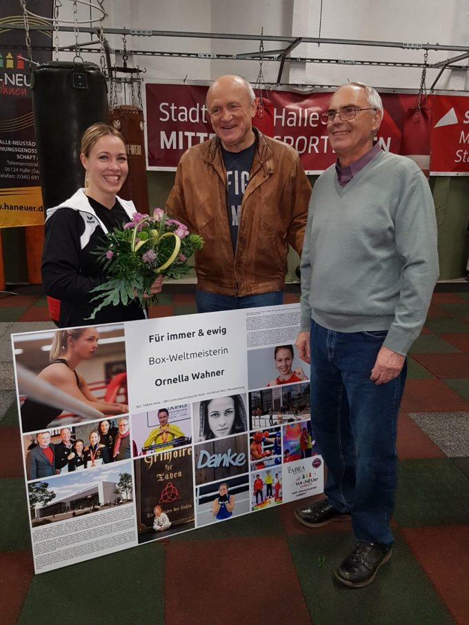 Weltmeisterin Ornella Wahner beglückwünscht